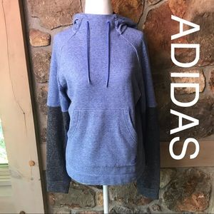 NWT ADIDAS sweatshirt grey and purple soft